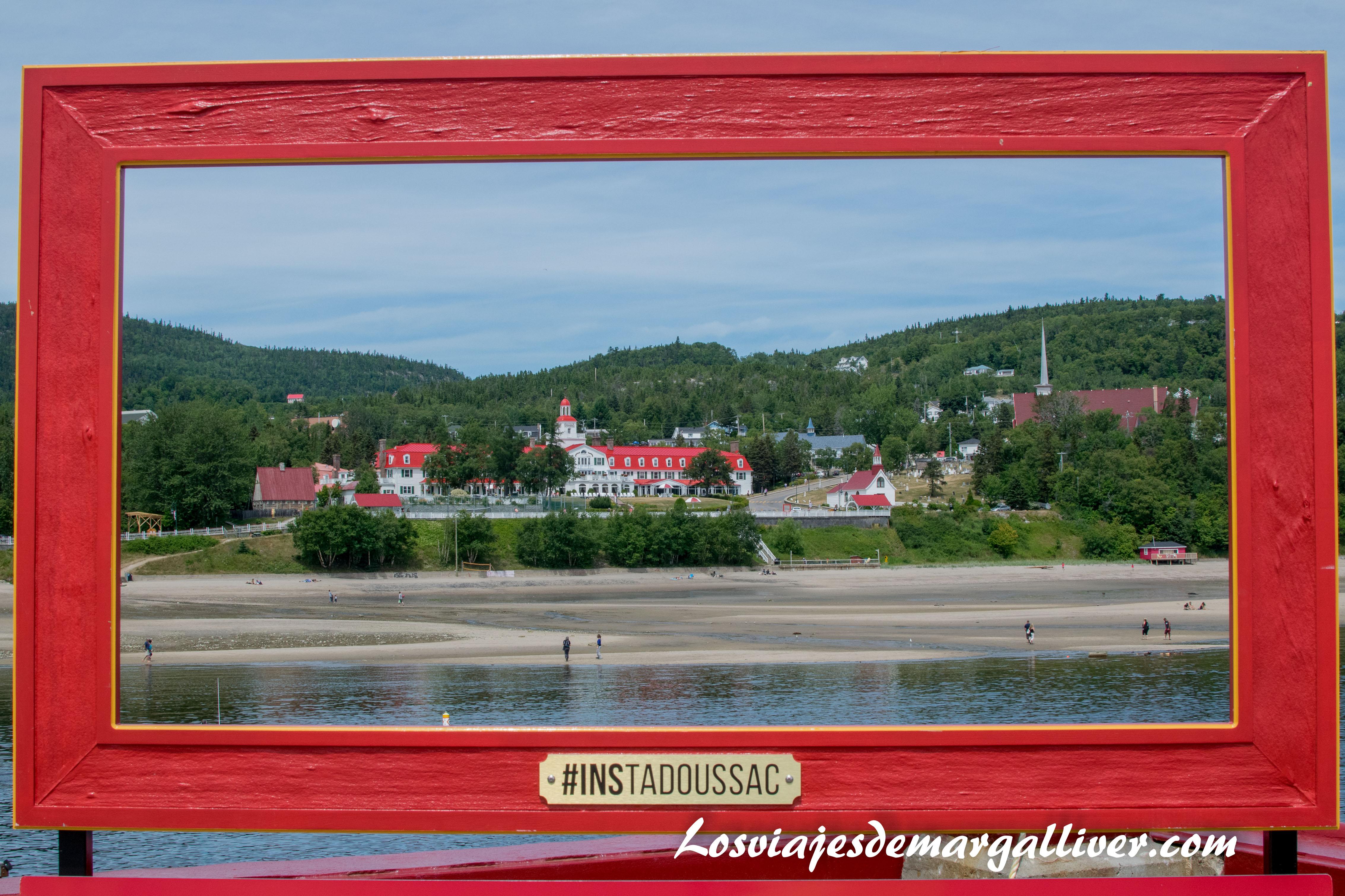 Ventana hacia el Hotel Tadoussac en la ruta por la costa este de Canadá - Los viajes de Margalliver